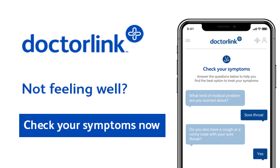 DoctorLink.  Not feeling weel?  Check your symptoms now